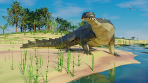 Sarcosuchus in Low Poly