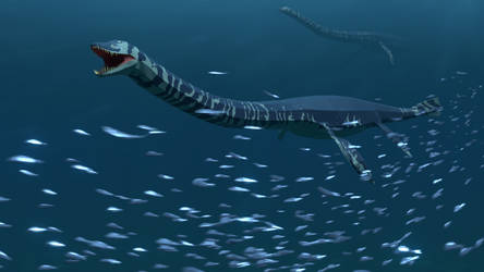 Styxosaurus In low poly