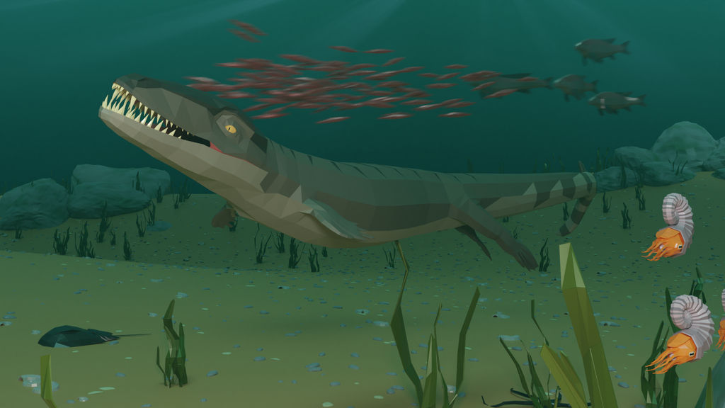 Dakosaurus In Low Poly
