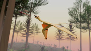 Sharovipteryx In Low Poly