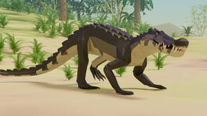 Kaprosuchus In Low Poly