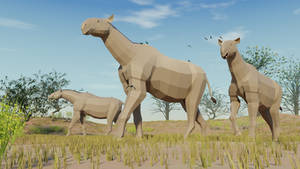 Paraceratherium in Low Poly