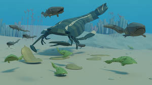 low poly Silurian Chase