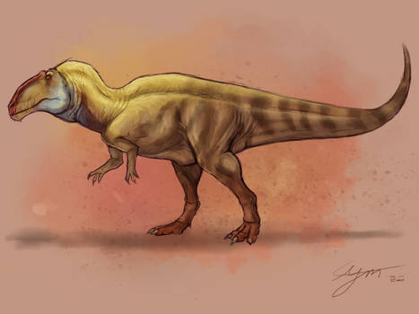 Acrocanthosaurus sketch 2020
