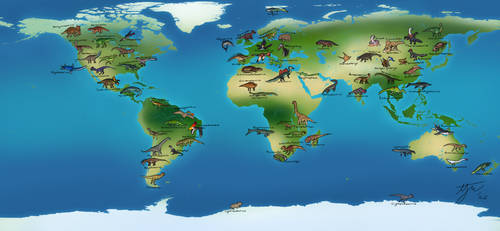 mesozoic World  map