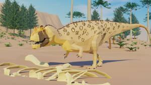 Ceratosaurus in Low Poly
