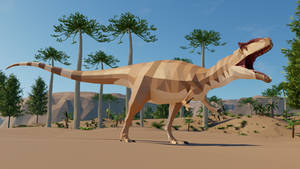 Revamped : Allosaurus in low poly