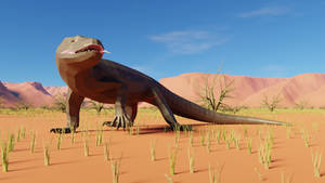 Megalania In low poly