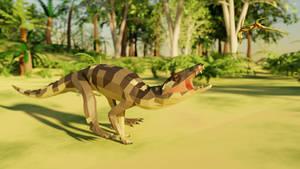 Araripesuchus In low poly