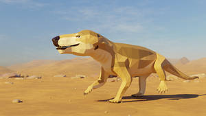 Revamped : Cynognathus in Low Poly