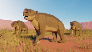 Diprotodon In Low poly