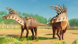 Bajadasaurus in Low Poly