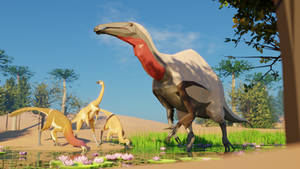 Revamped: Deinocheirus in Low Poly