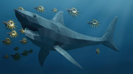 Helicoprion in Low Poly