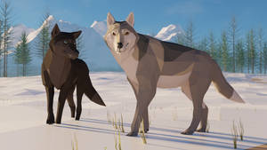 Revamped : Grey wolf in low poly
