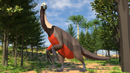 Revamped: Therizinosaurus in Low Poly