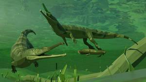 Palaeorhinus in Low Poly