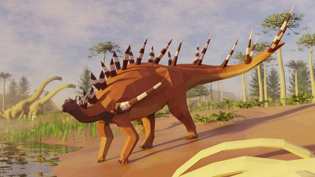 Revamped : Kentrosaurus in low poly