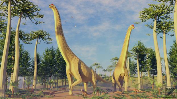 Reavmped: Giraffatitan In Low Poly