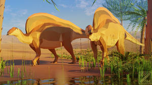 Revamped : Ouranosaurus in low poly