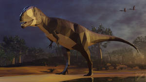 Carcharodontosaurus in Low Poly