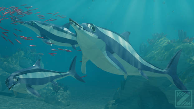 Revamped: Ophthalmosaurus in Low Poly