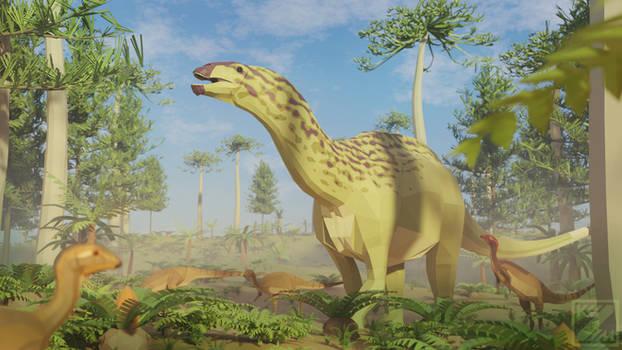 Dicraeosaurus in Low Poly