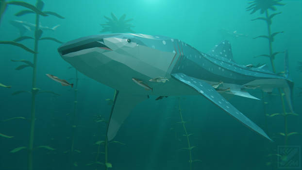 Whale Shark in Low Poly