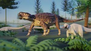 Kunbarrasaurus in Low Poly