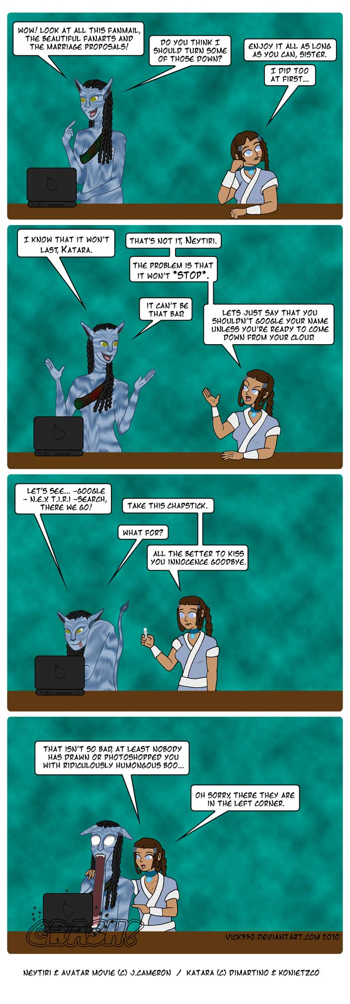 Neytiri and the internet by vick330