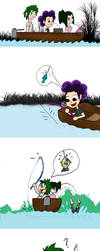 a Deku a Froppy and a Grape go fishing by vick330