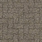Seamless brick pavement patio texture