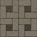 Seamless concrete stone brick tiles