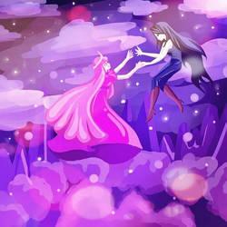 Princess Bubblegum x Marceline (Bubbline)
