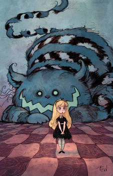 Alice and the Chesire Cat