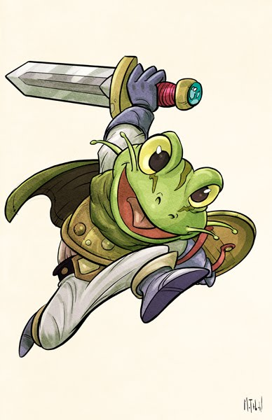 Chrono Trigger Frog by matthewart