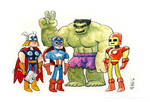 Awkward Avengers Group Photo