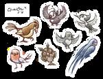 [Pokemon] Regional Bird Doodles