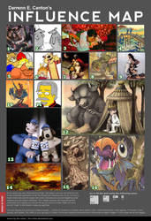 Influence Map by GH-MoNGo