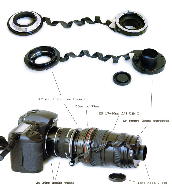 reversed EF lens macro setup