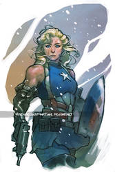 Lady Captain America by MischievousMartian