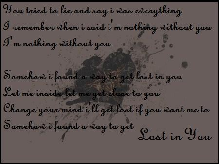 lost you lyrics: