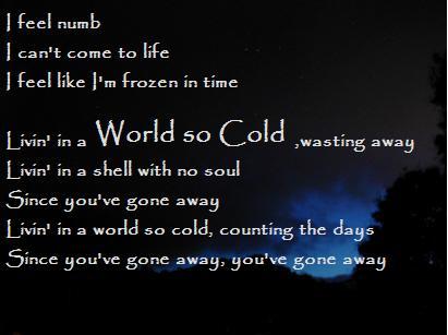 a world so cold: