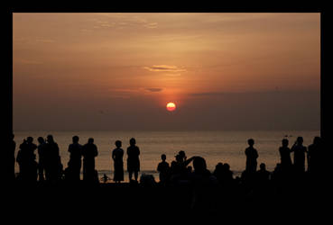 waching sunset by uut