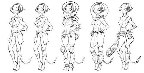 Paz Outfits Inks 01