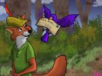 Robin Hood recieves fan mail..