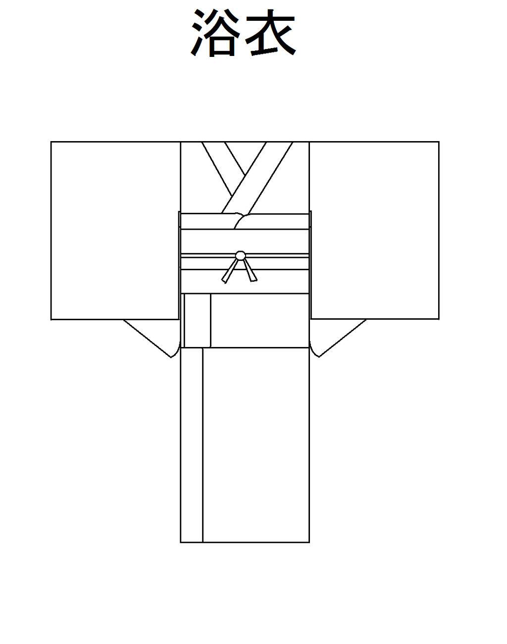 Yukata line art - F