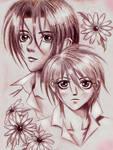 Tsuzuki and Hisoka in the red