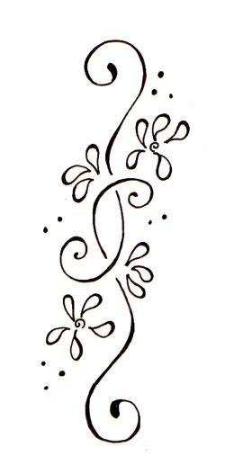 Floral Art Line Design : Floral lines tattoo by deedeedee on deviantart