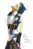 kagamine len and Kaito by Stelladoll